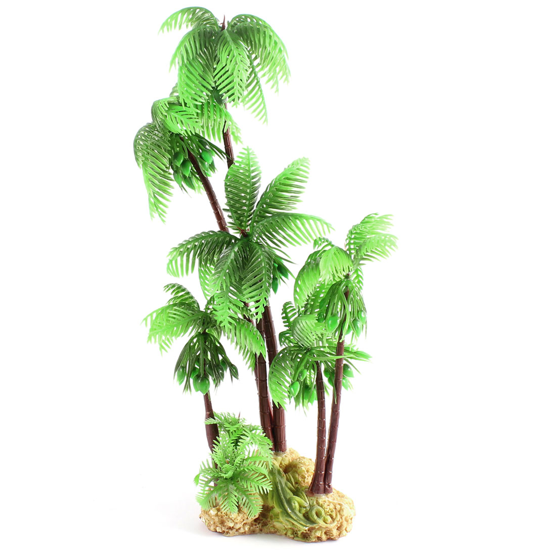 "9.4"" High Aquarium Decorative Green Coconut Tree Artificial Plant"