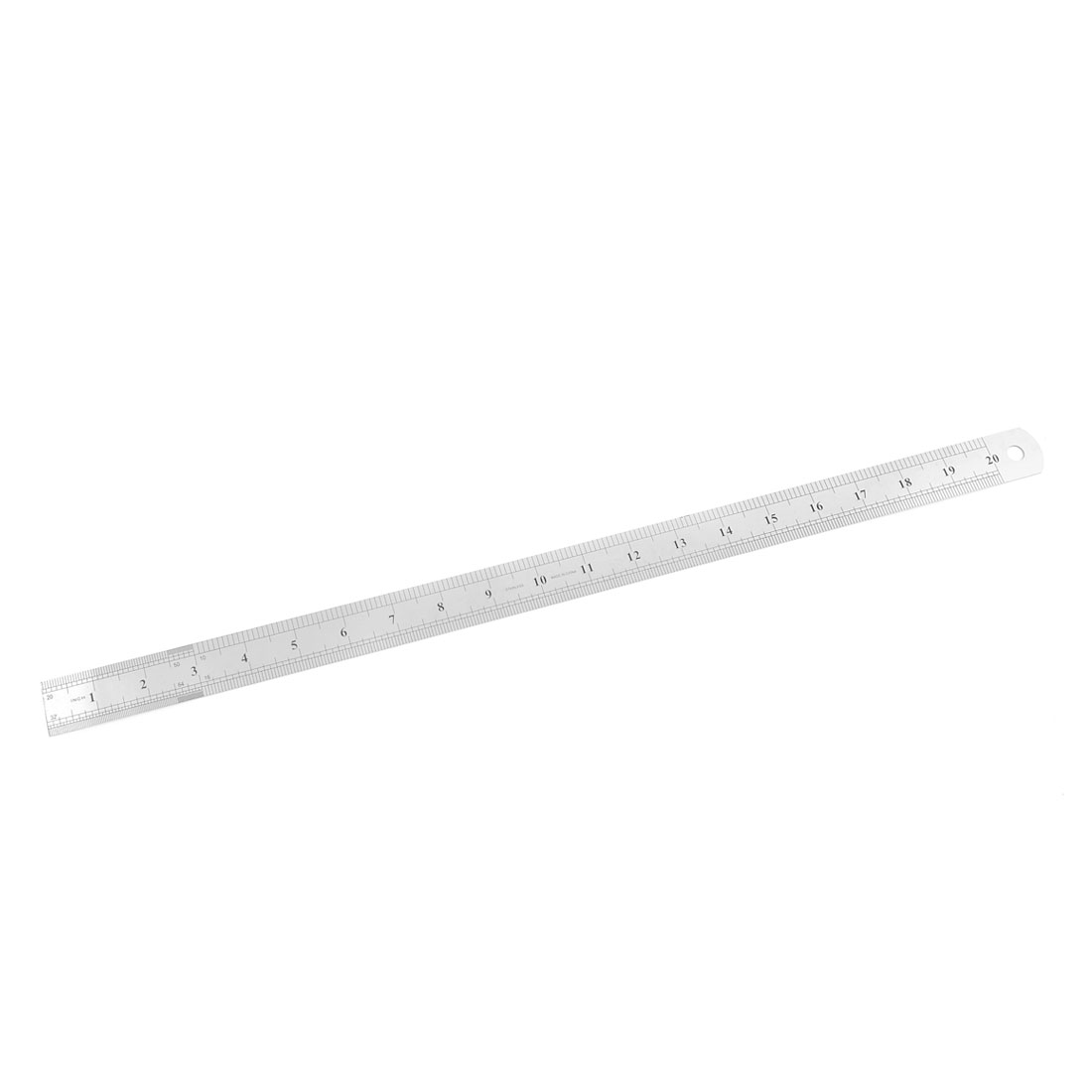 53cm Long 0-50cm Range Measurement Stainless Steel Metal Straight Ruler