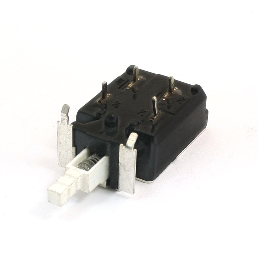 KDC-A20 4 Terminals AC 250V 128A/4A DPST Self-Locking Push Button Power Switch