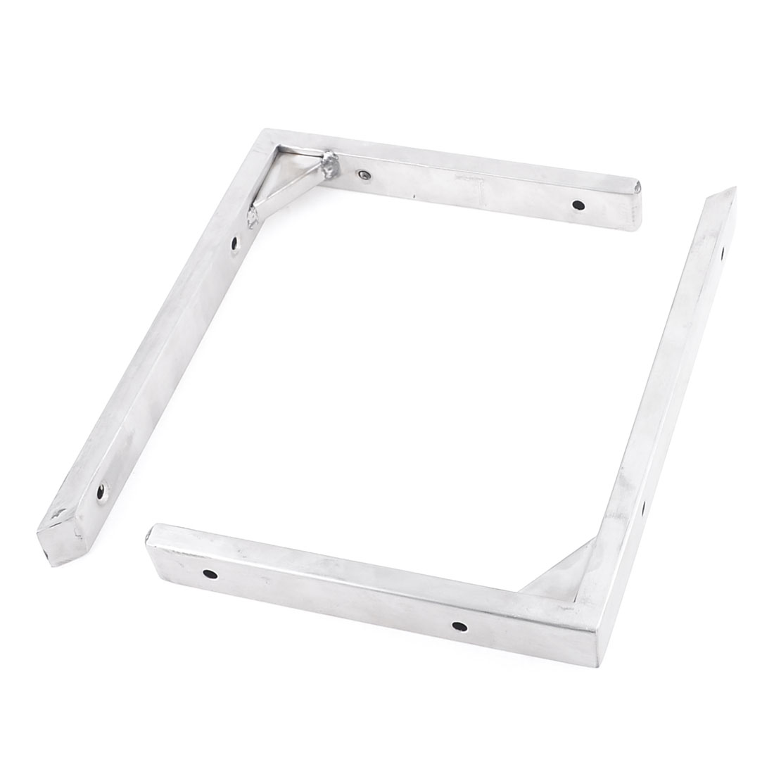 2 Pcs Stainless Steel Right Angle Shelf Support Brackets 20cm x 15cm
