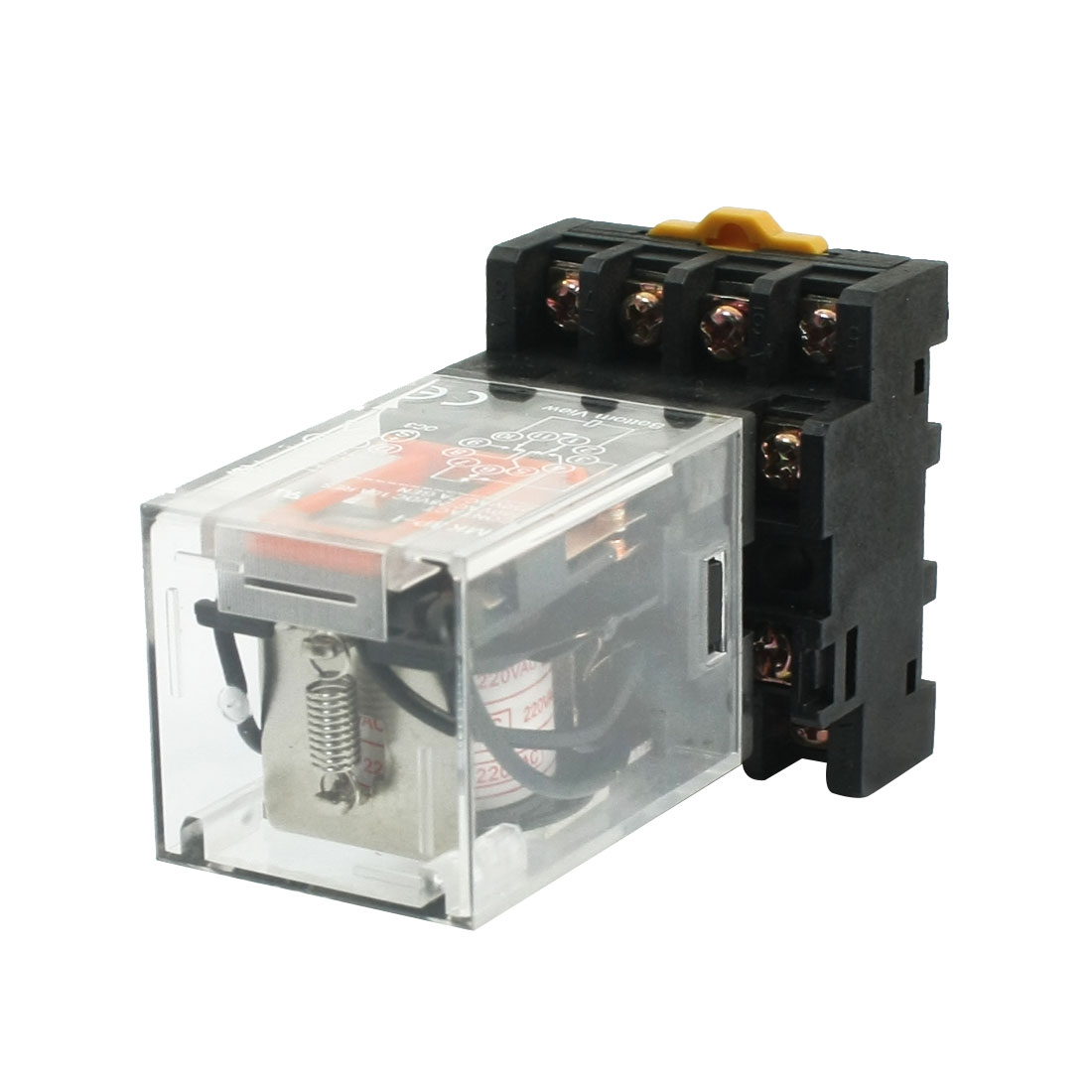 MK3P-I Clear Plastic Shell 3PDT AC 220V Coil Electromagnetic Relay w Socket