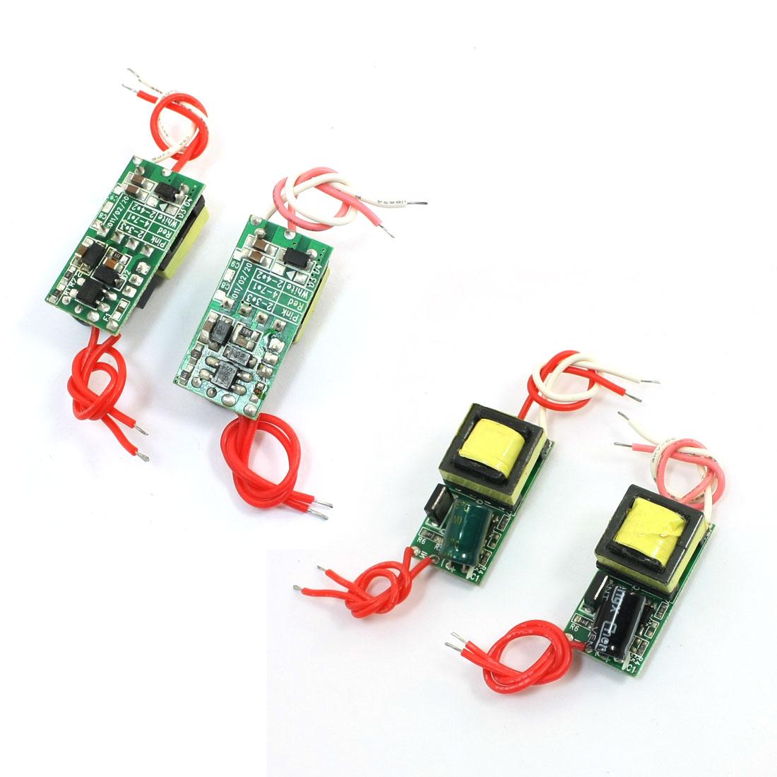 4pcs AC 85-265V DC 17V (4-7)x1W LED E27 Power Supply Driver Adapter