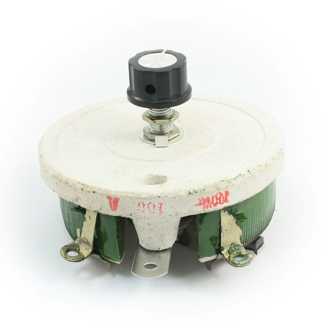 Single Turn Resistor 200W 100 Ohm Volume Control Ceramic Disk Rheostat