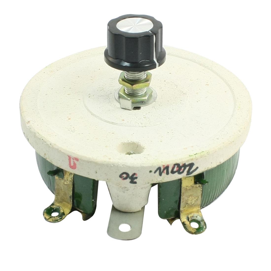 200W 30 Ohm Ceramic Potentiometer Variable Taper Pot Resistor Rheostat