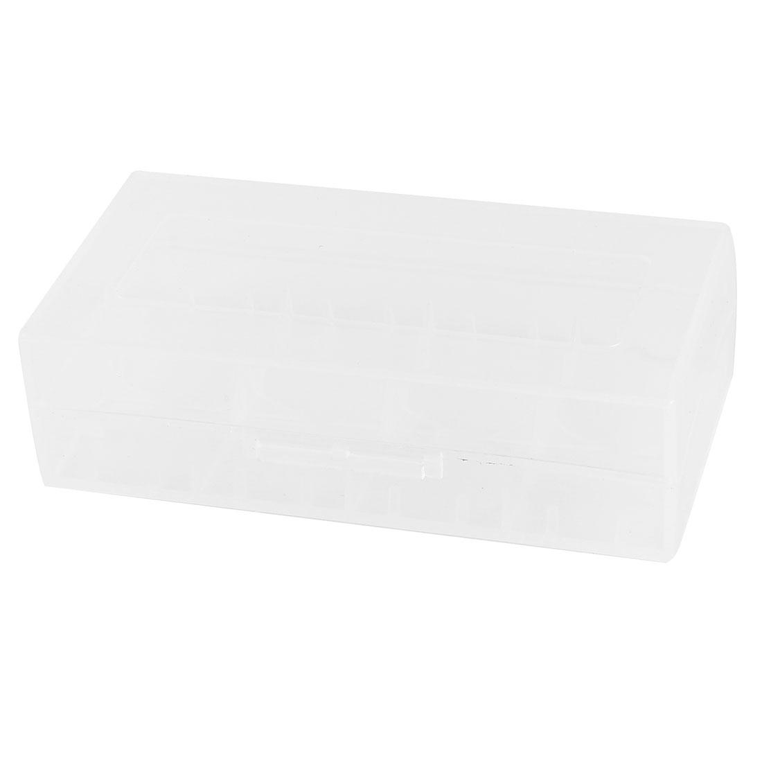 Plastic 8 Compartments Rectangle Jewelry Mini Storage Box Case Clear White