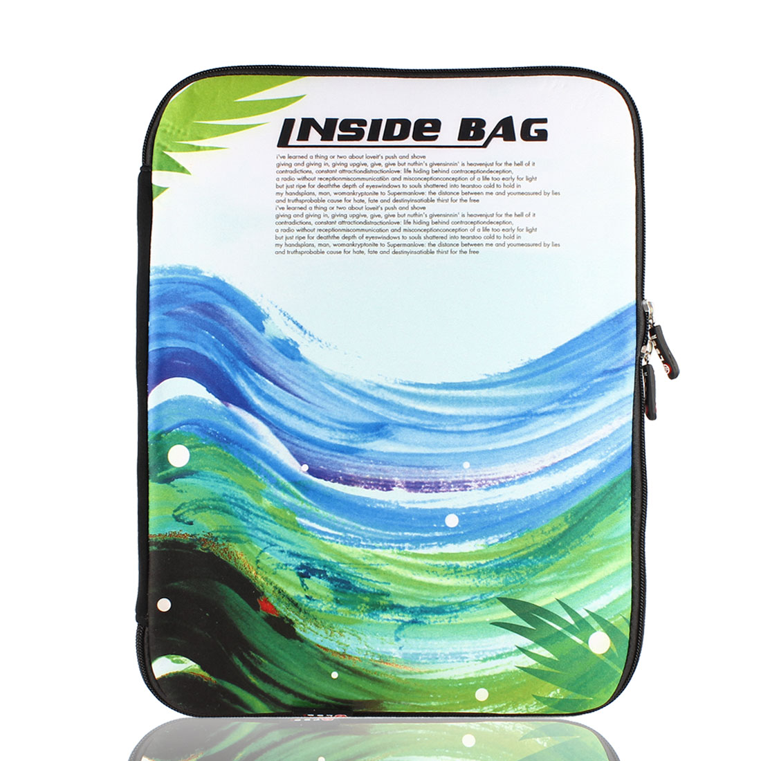 """14"""" 14.1"""" Wave Printed Laptop Neoprene Sleeve Bag Case Pouch Cover"""