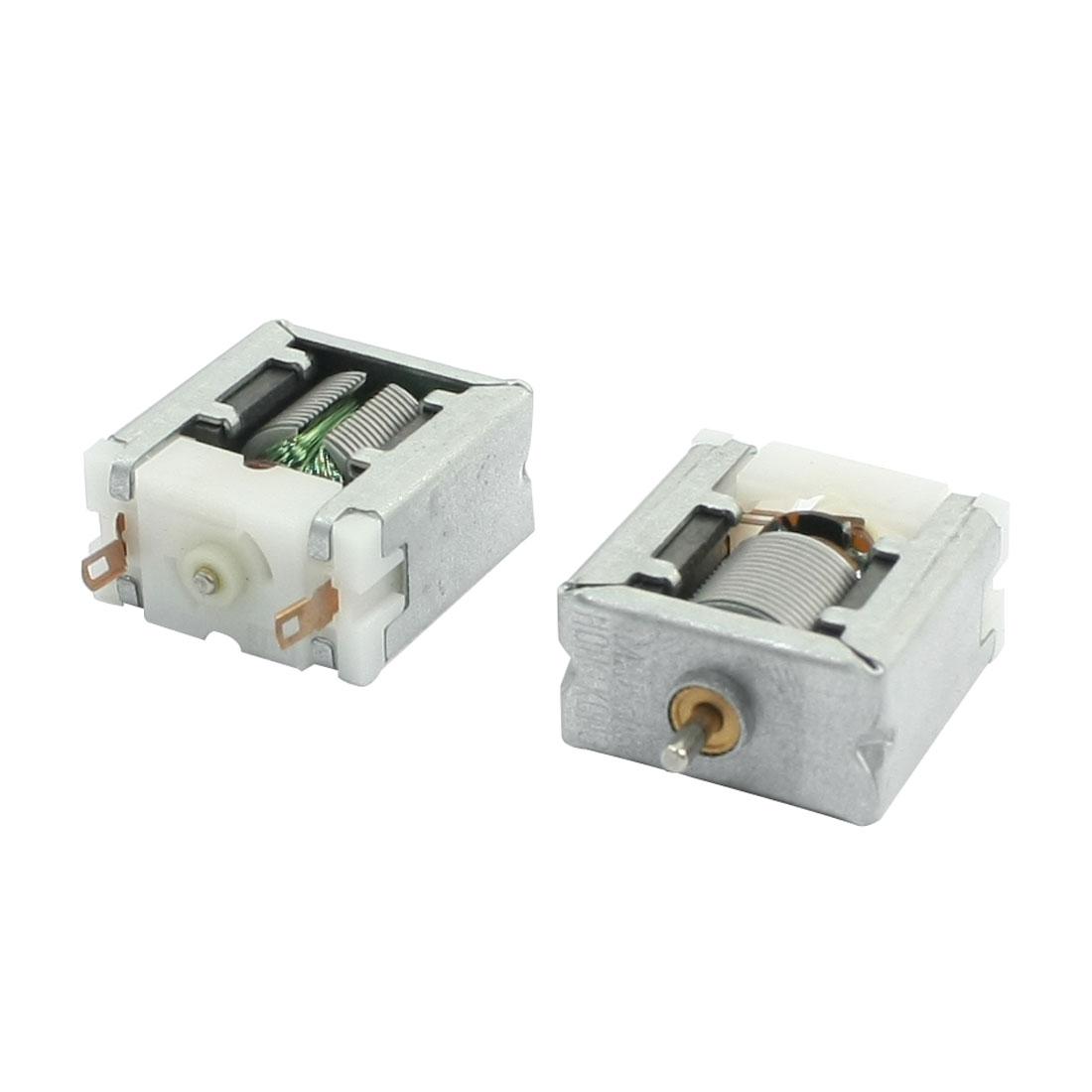 2PCS 1.5mm Shaft Dia DC3V 13500RPM Bare Magnetic Carbon Brush Micro Motor