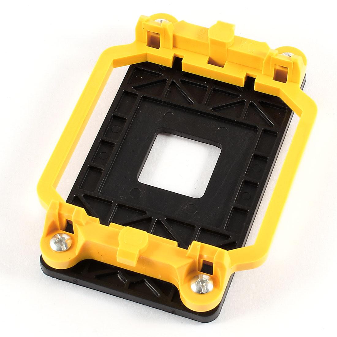 Black Yellow AMD CPU Cooling Fan Heatsink Bracket Holder Base for AM2 940 Socket