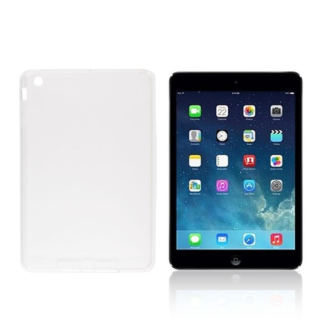Clear TPU Soft Plastic Protector Back Case Cover for iPad Mini 1 2