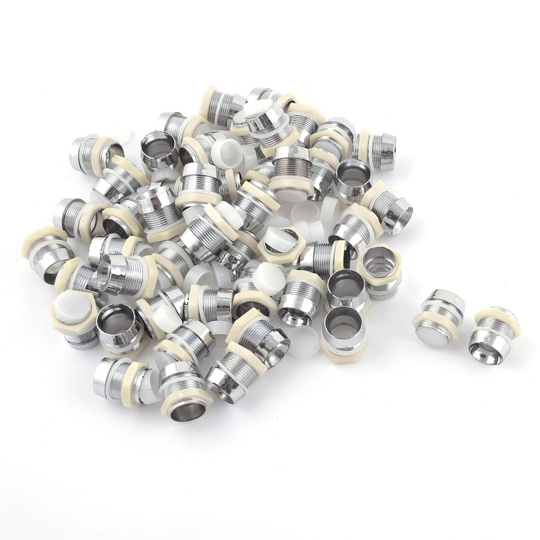 50 Pcs Silver Tone LED Lamp Holder Bazels Case for 12mm Diode