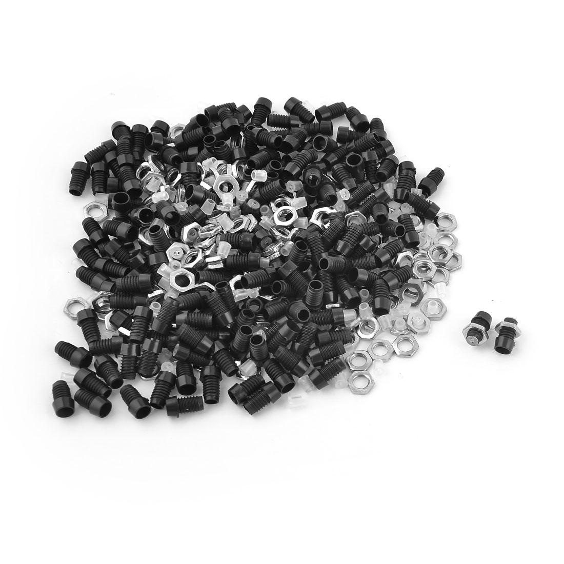 200 Pieces Black Plastic 3mm LED Mounting Holder Panel w Metal Nut