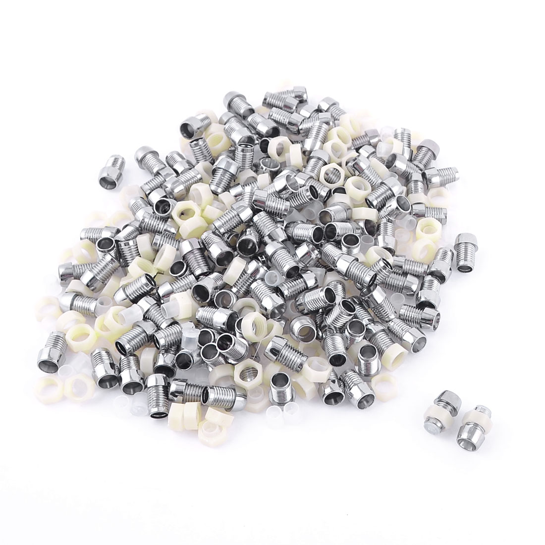 150Pcs 5mm Metal Silver Tone LED Lamp Holder for Light-emitting Diode Lighting