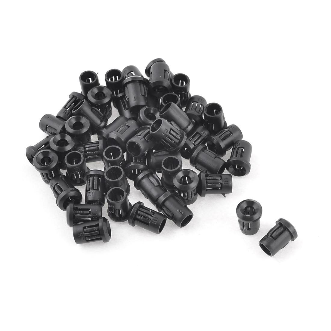 Household 3mm Diameter LED Lamp Light Holder Shell Black 50 Pieces