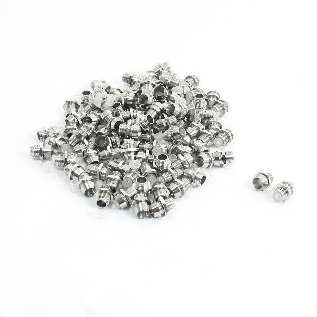 100 Pcs Silver Tone LED Lamp Holder Bezels for 3mm Light Emitting Diode