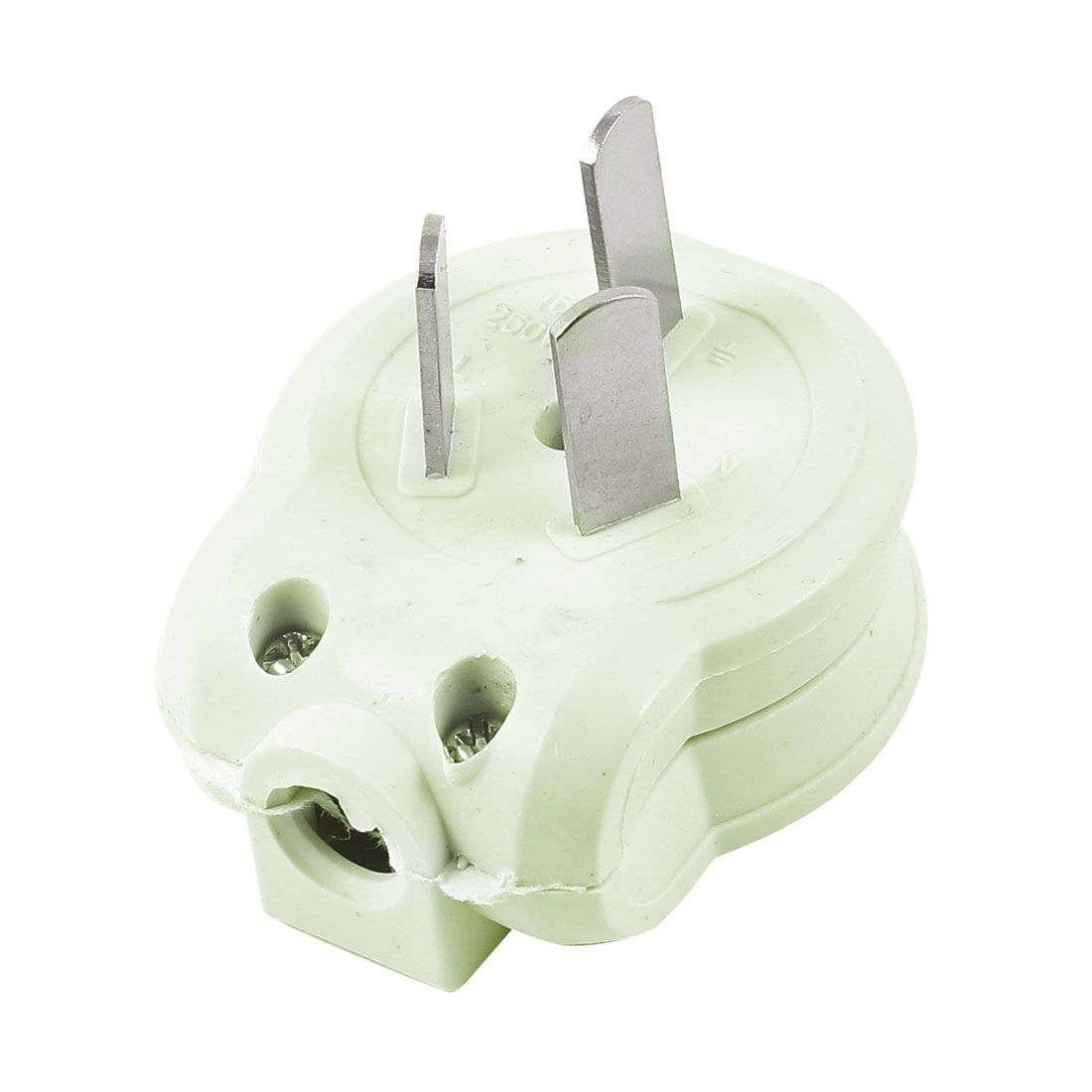 2 PCS Pale Green Plastic Adapter Connector AC 250V 10A AU Plug
