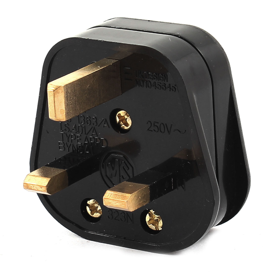 AC 250V 13A Black Plastic Power Adapter Connector UK Plug