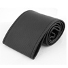 Car Black Faux Leather Mesh Design Hand Sewing Steering Wheel Cover Needle Set