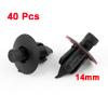 40PCS 20mm Long Plastic Fasteners Rivets Fender Clips 7mm Hole Dia for Car