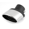 "Car Bolt on 2.2"" Inlet Oval Slanted Rolled Exhaust Muffler Tip Silencer"