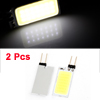 Pair G4 White 21 COB LED Car Dashboard Indicator Light Lamp Bulbs 1.3W