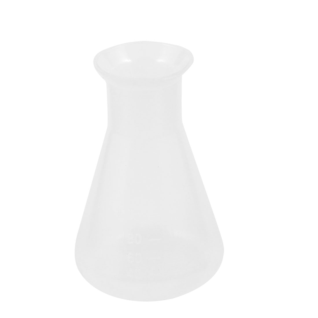 100ml Clear White Laboratory Liquid Bottle Plastic Conical Flask