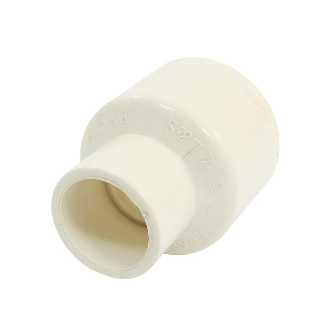Slip x Slip White PVC Water Pipe Straight Connector Coupler 40 x 25mm