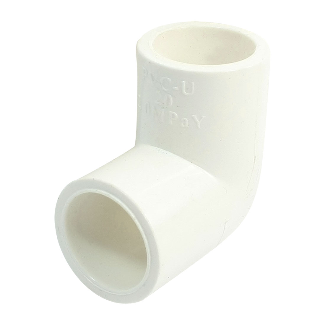 White PVC-U Pipe 90 Degree Angle Elbow Slip Connect Fitting 20mm Inner Dia