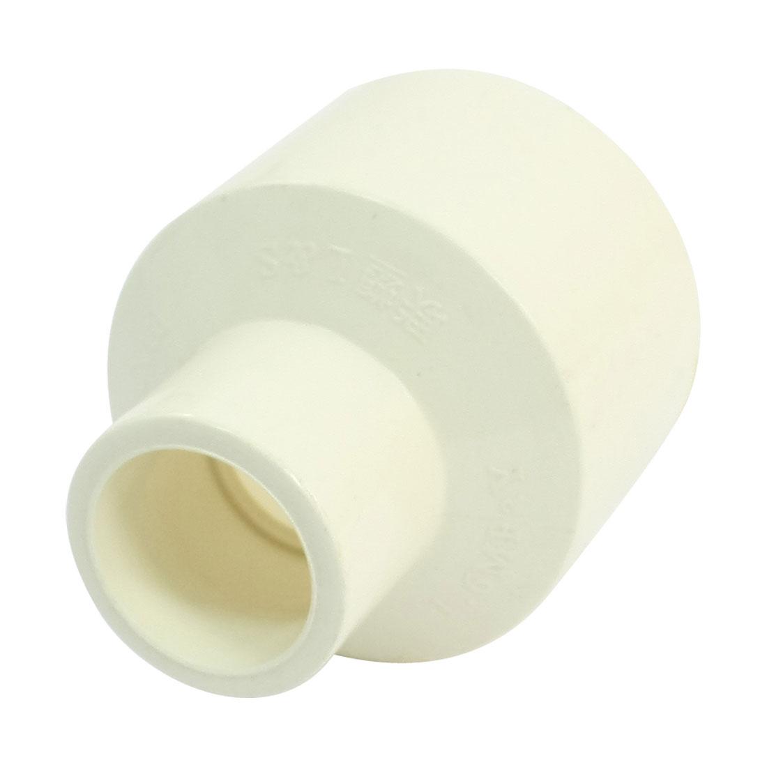 40mm x 20mm Slip x Slip White PVC Water Pipe Straight Connector Coupler