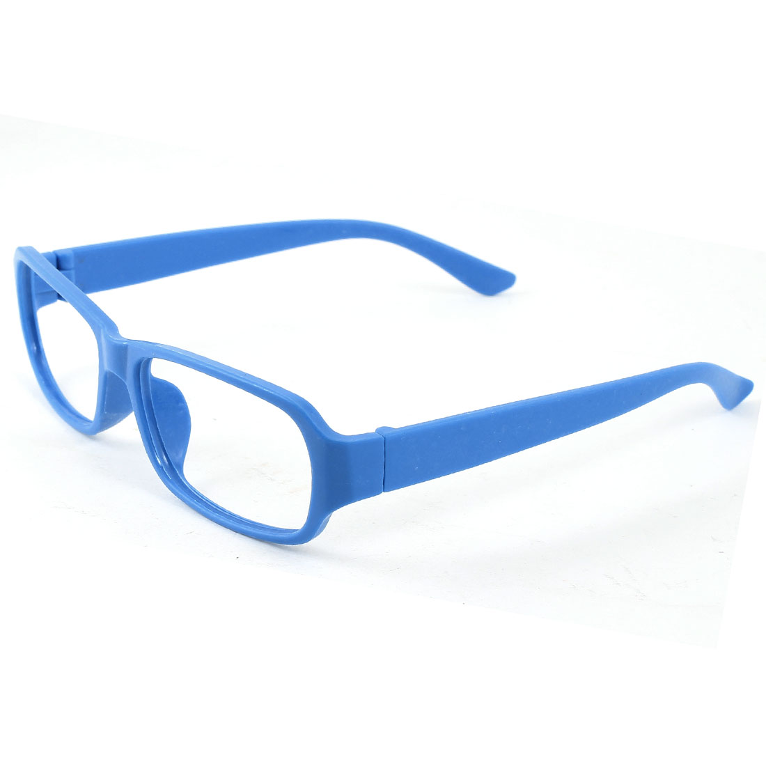 Blue Plastic Full Rim Rectangular Eyeglasses Frame for Women