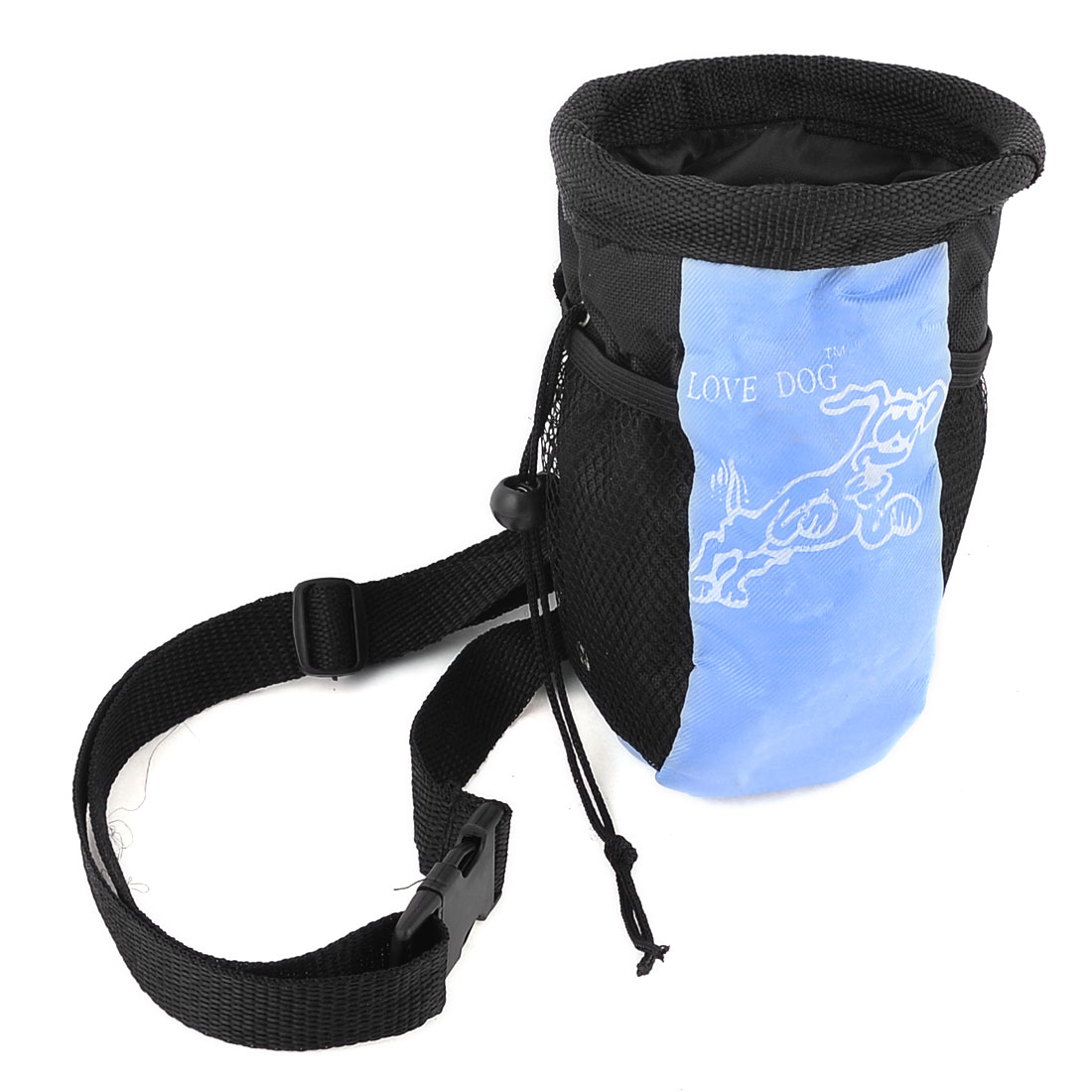 Dog Print Release Buckle Pet Cat Chihuahua Carry Meshy Bag Light Blue