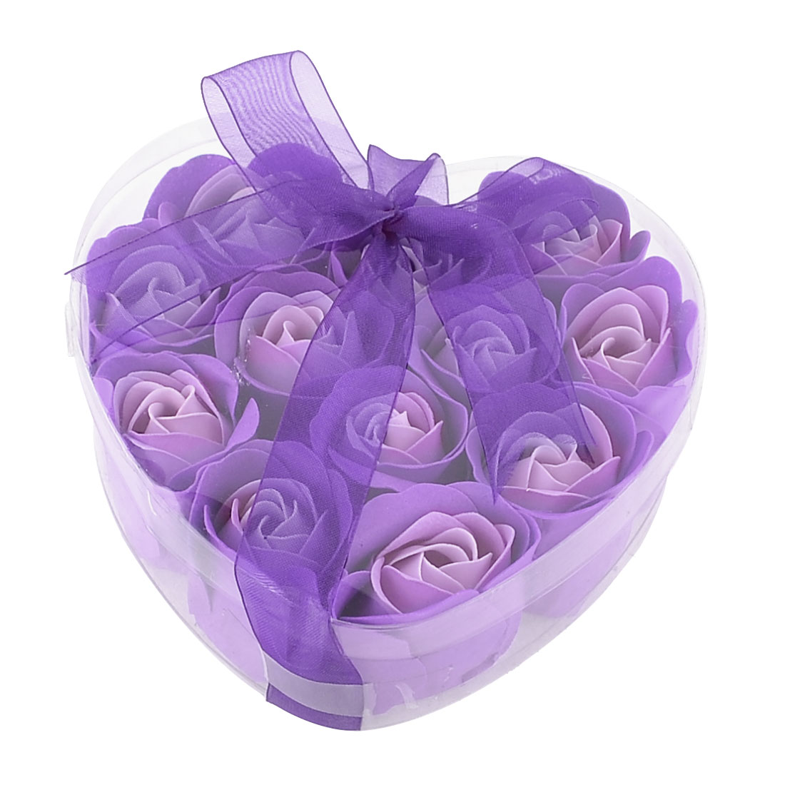 12 x Scented Rose Shaped Bathing Bath Soap Petals Flakes Purple