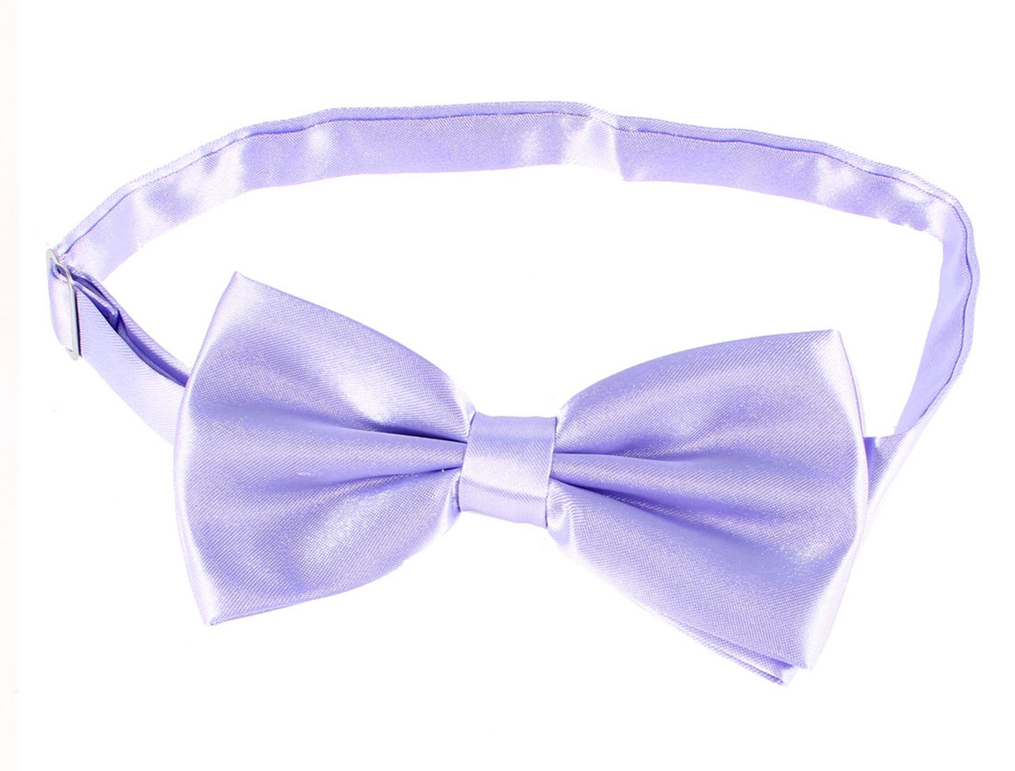 Party Tuxedo Decor Double Layers Polyester Bowtie Lavender Men Women