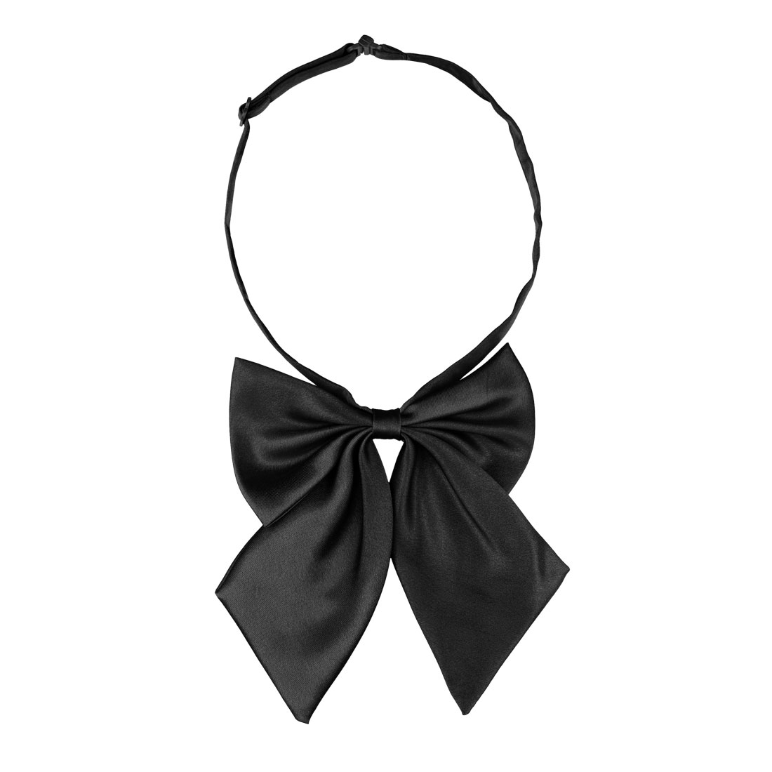 Adjustable Black Bowknot Halter Neck Bow Tie Bowtie for Lady