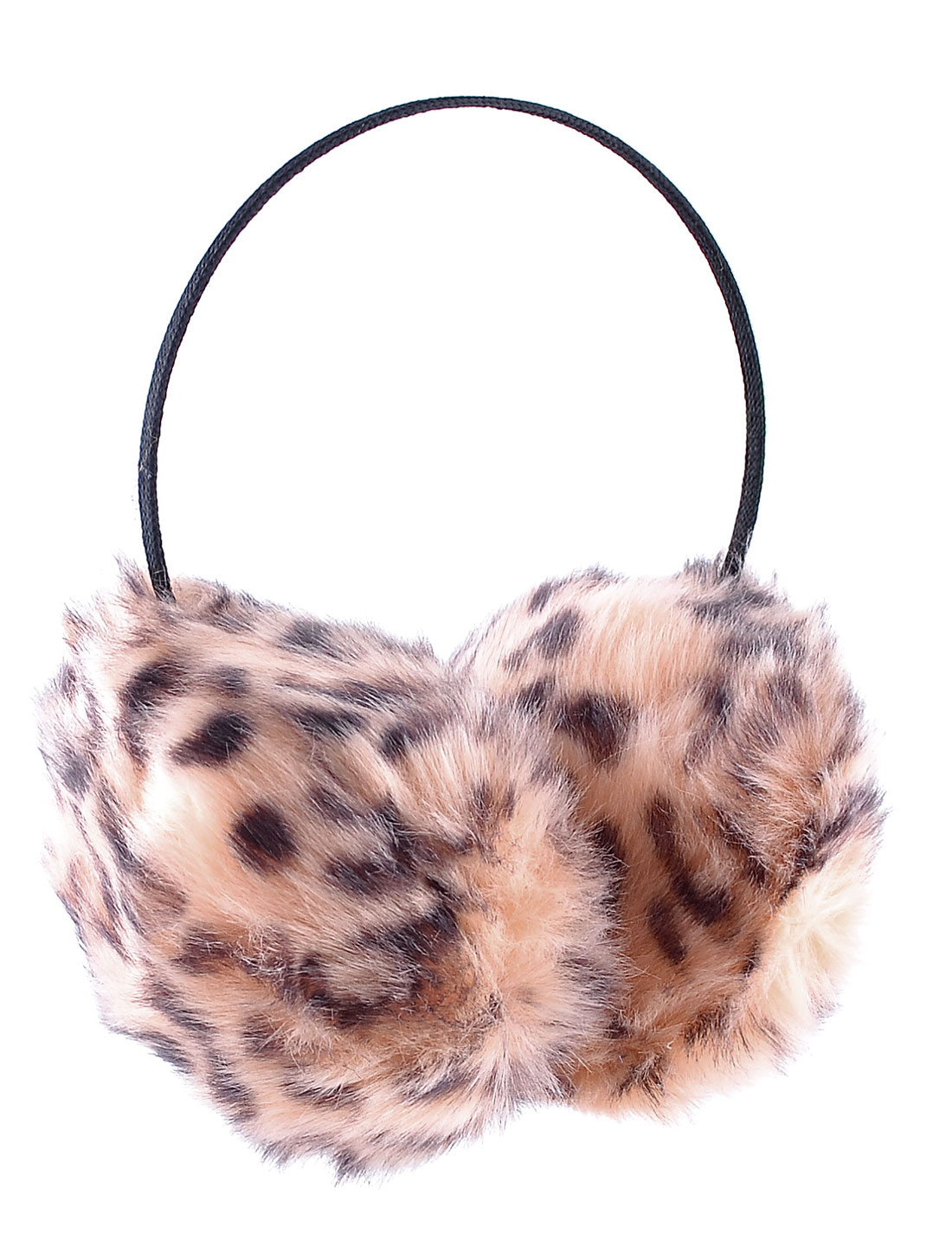 Winter Warm Plush Leopard Pattern Ear Covers Earmuffs Pink for Unisex