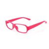 Fuchsia Plastic Full Rim Rectangular Eyeglasses Frame for Women