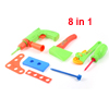 Green Orange Electric Drill Tool Model Toy 8 in 1 Set
