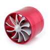 Car Truck Turbo Single Air Intake Fuel Saver Fan Turbine Supercharger Kit Red