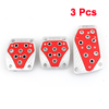 3 in 1 Red Plastic Antislip Clutch Brake Gas Pedal Cover Set for MT Car