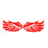 Car Vehicle Red Reflective Angel Wings Shaped Sticker Decal Decoration