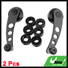 2 Pcs Black Aluminum Racing Car Auto Window Winders Crank Handle Kits