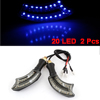 2 Pcs Plastic Shell Blue 20 LED Motorcycle Indicator Turn Lights Lamps