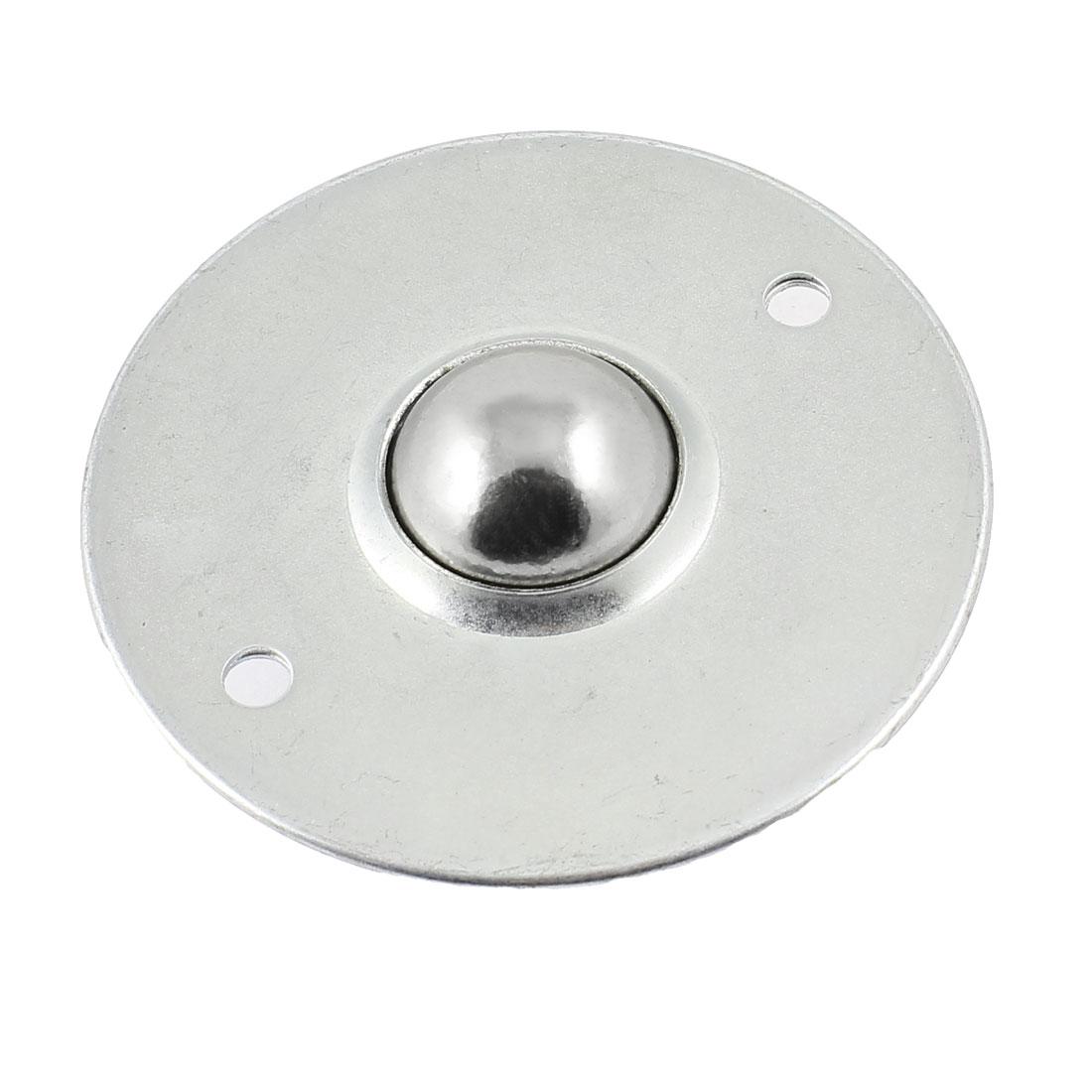 Silver Tone 2 Holes Flange Mounted Ball Transfer Unit Bearing