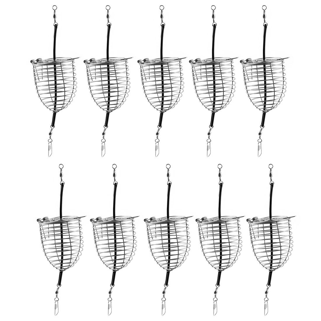 10 PCS Stainless Steel Fishing Bait Cage Basket