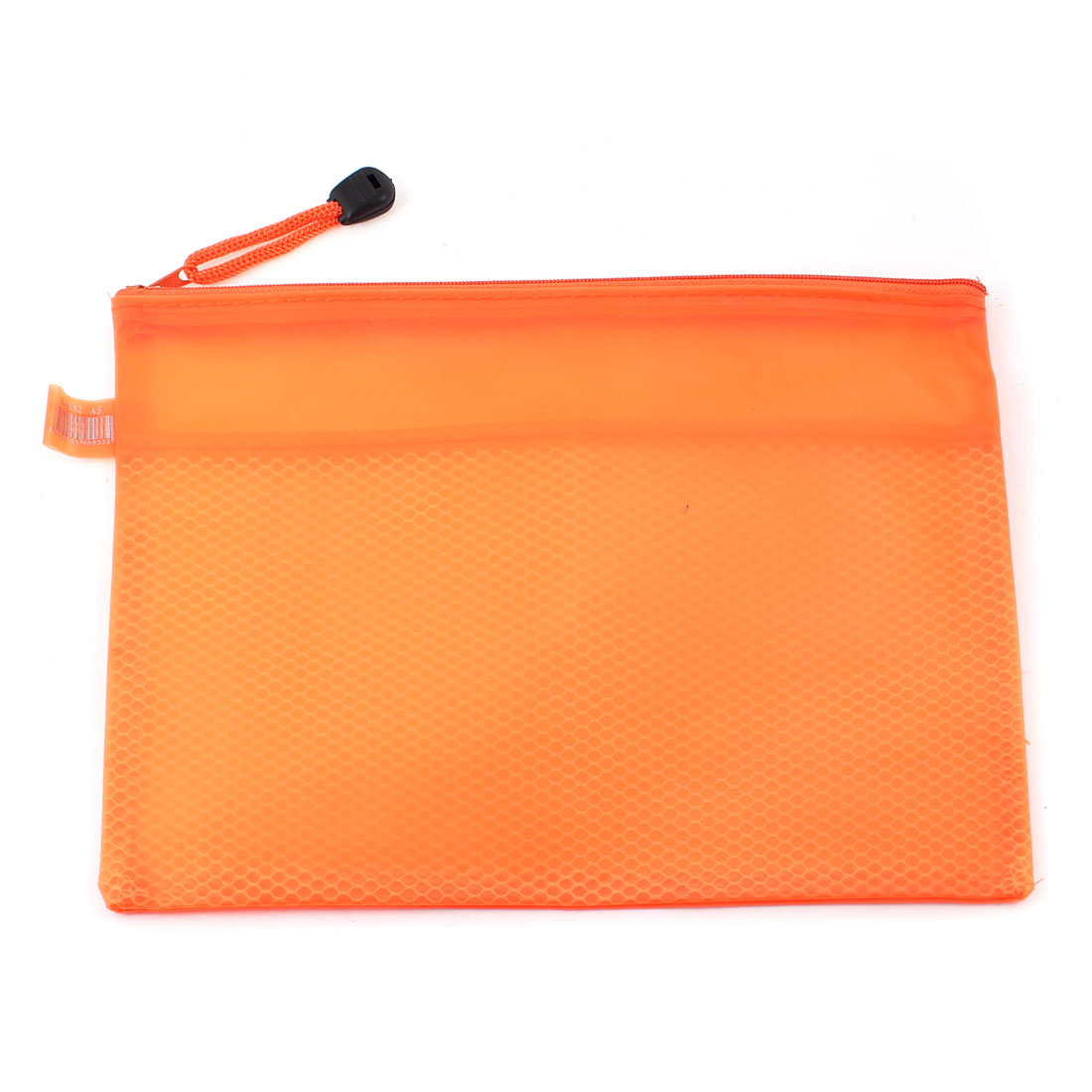 Orange Waterproof 2 Compartments Nylon Zippered A5 File Folder Bags