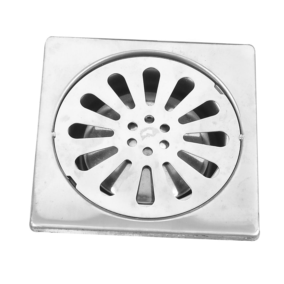 """Basement 4"""" Outlet Stainless Steel Square Shape Shower Waste Grate Floor Drain"""