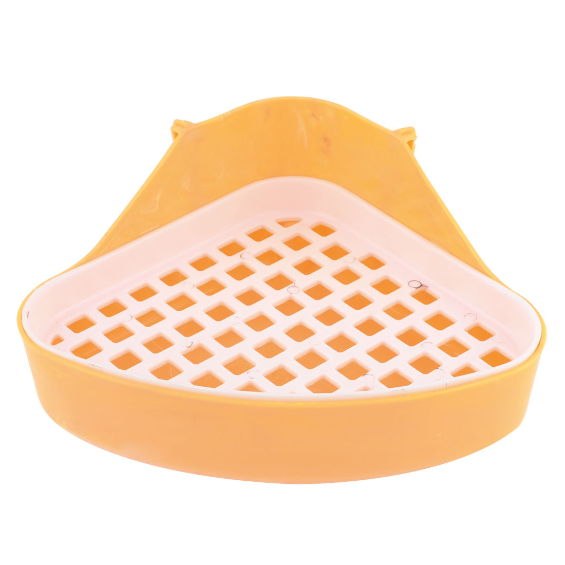 Yellow White 24cm x 17cm x 10cm Triangle Indoor Dog Potty Pet Toilet