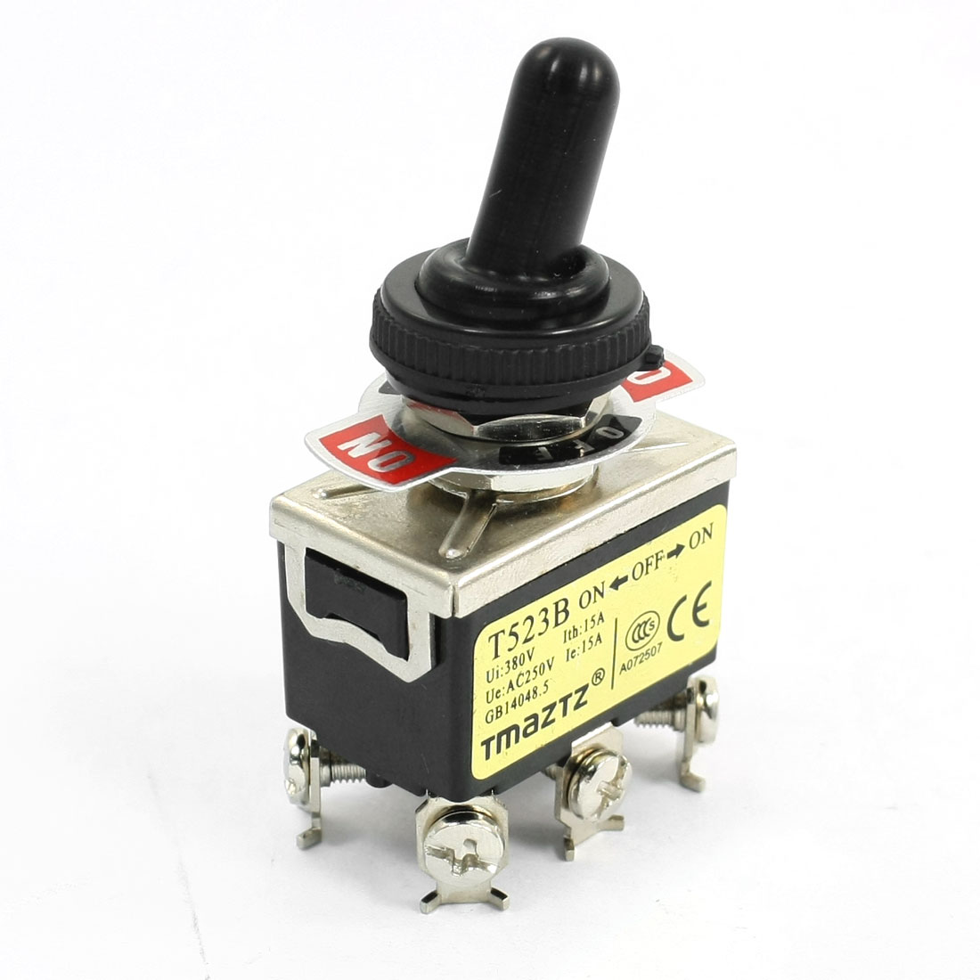 380V 15A Waterproof ON-OFF-ON 6 Terminals DPDT Locking Toggle Switch