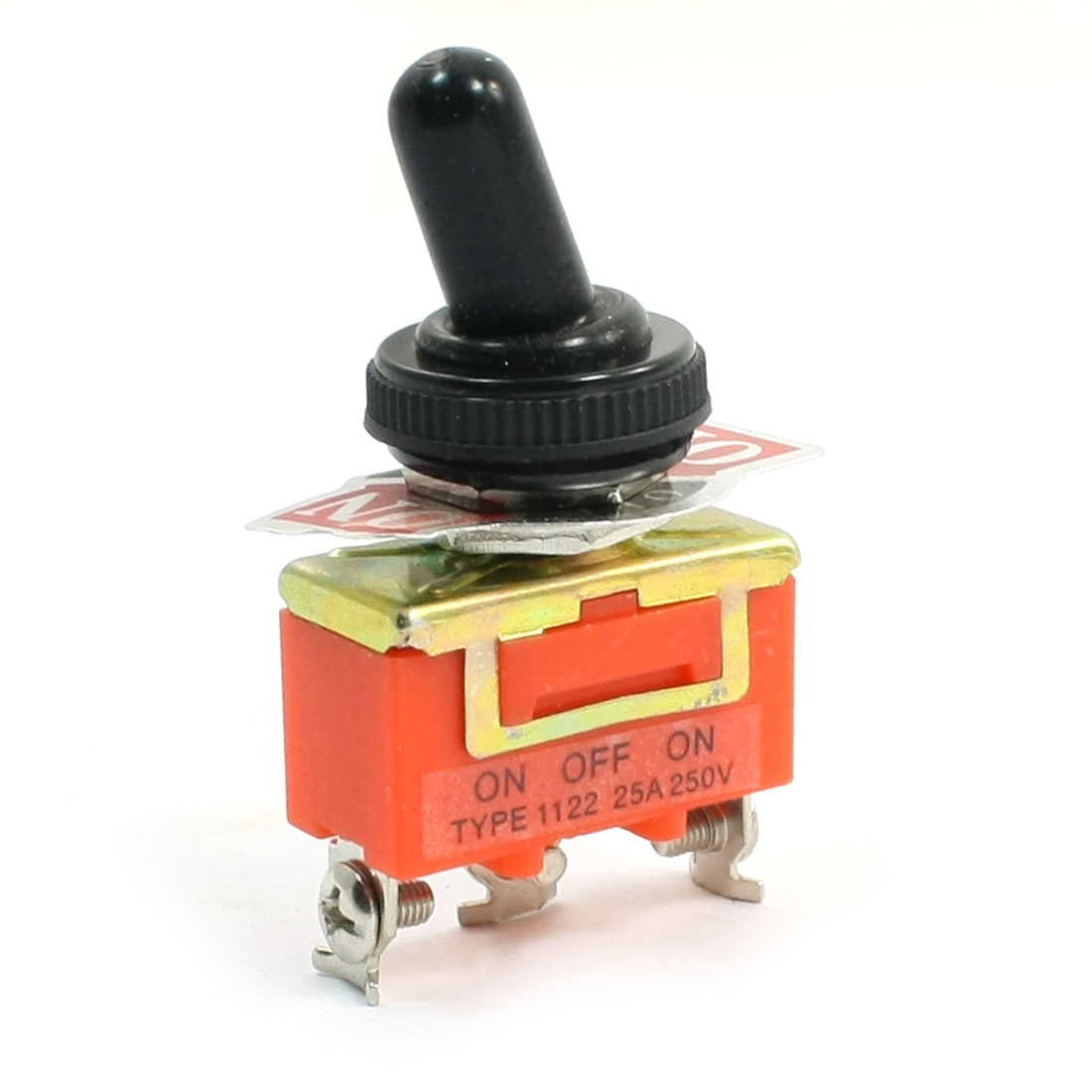 250V 25Amp SPDT Latching Rocker Type 3 Position Toggle Switch w Cover