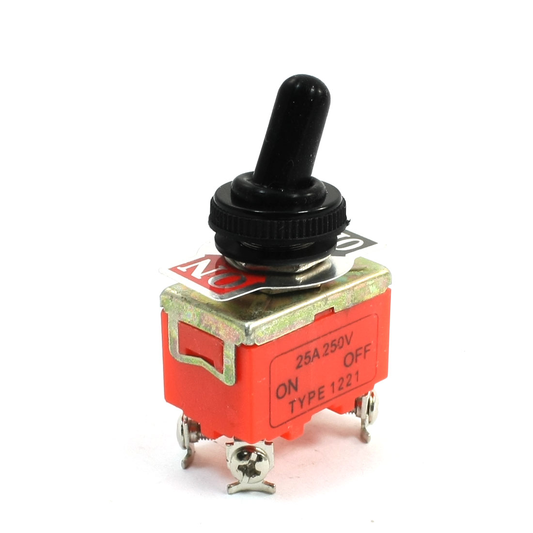 250V 25A Waterproof ON-OFF 4 Screw Terminal DPST Locking Toggle Switch