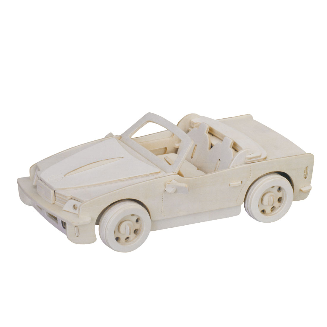Wooden Woodcraft Educational Auto Car Puzzle Model Toy for Kids